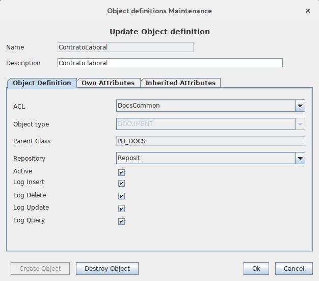 OpenProdoc permite generar trazas de auditoría