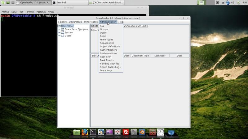 Captura de pantalla de OpenProdoc