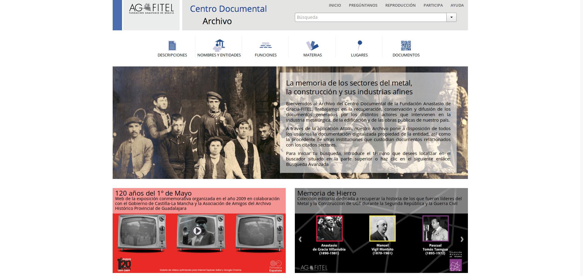 AtoM en el Archivo de AGFITEL