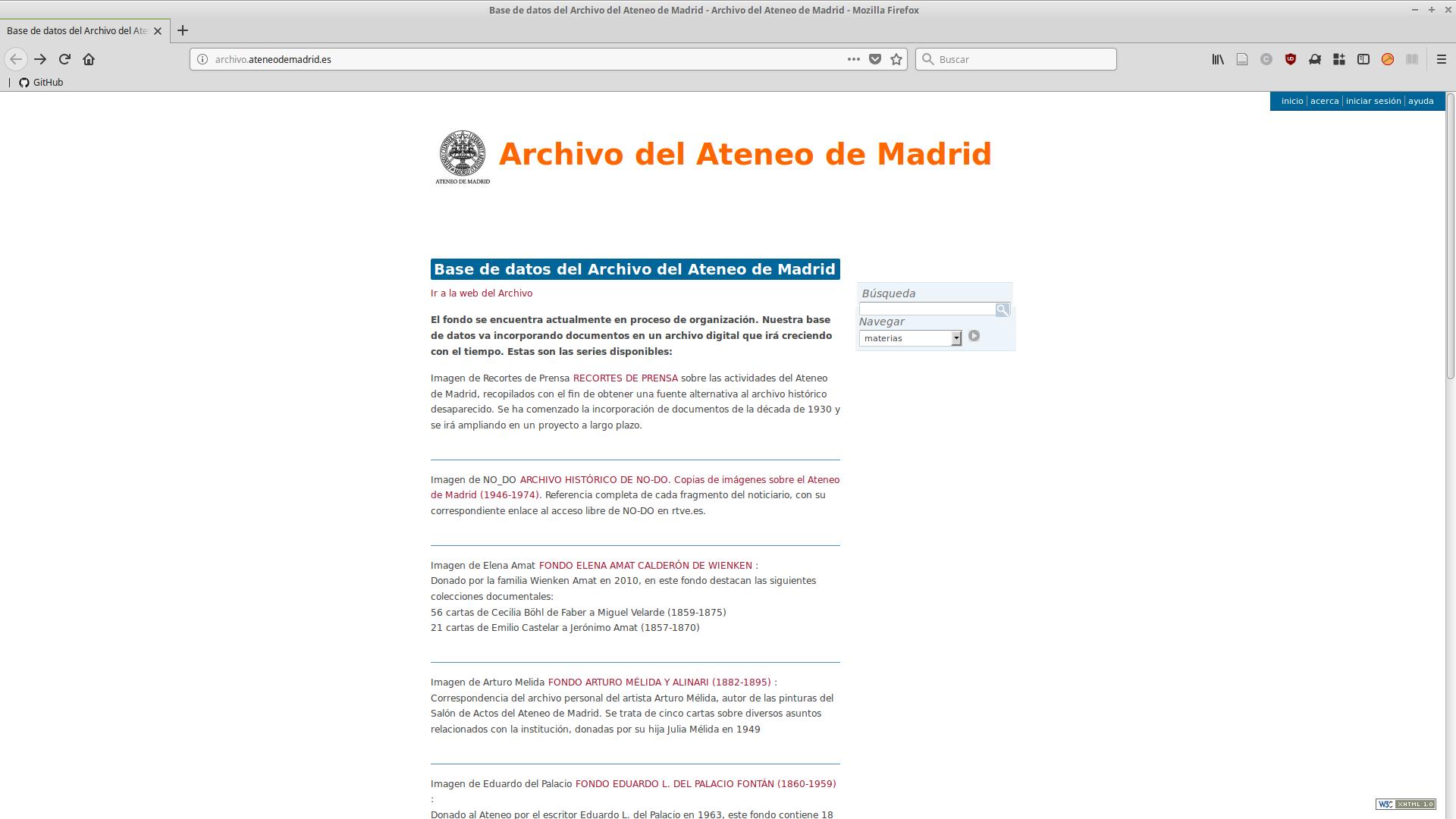AtoM en el Archivo del Ateneo de Madrid