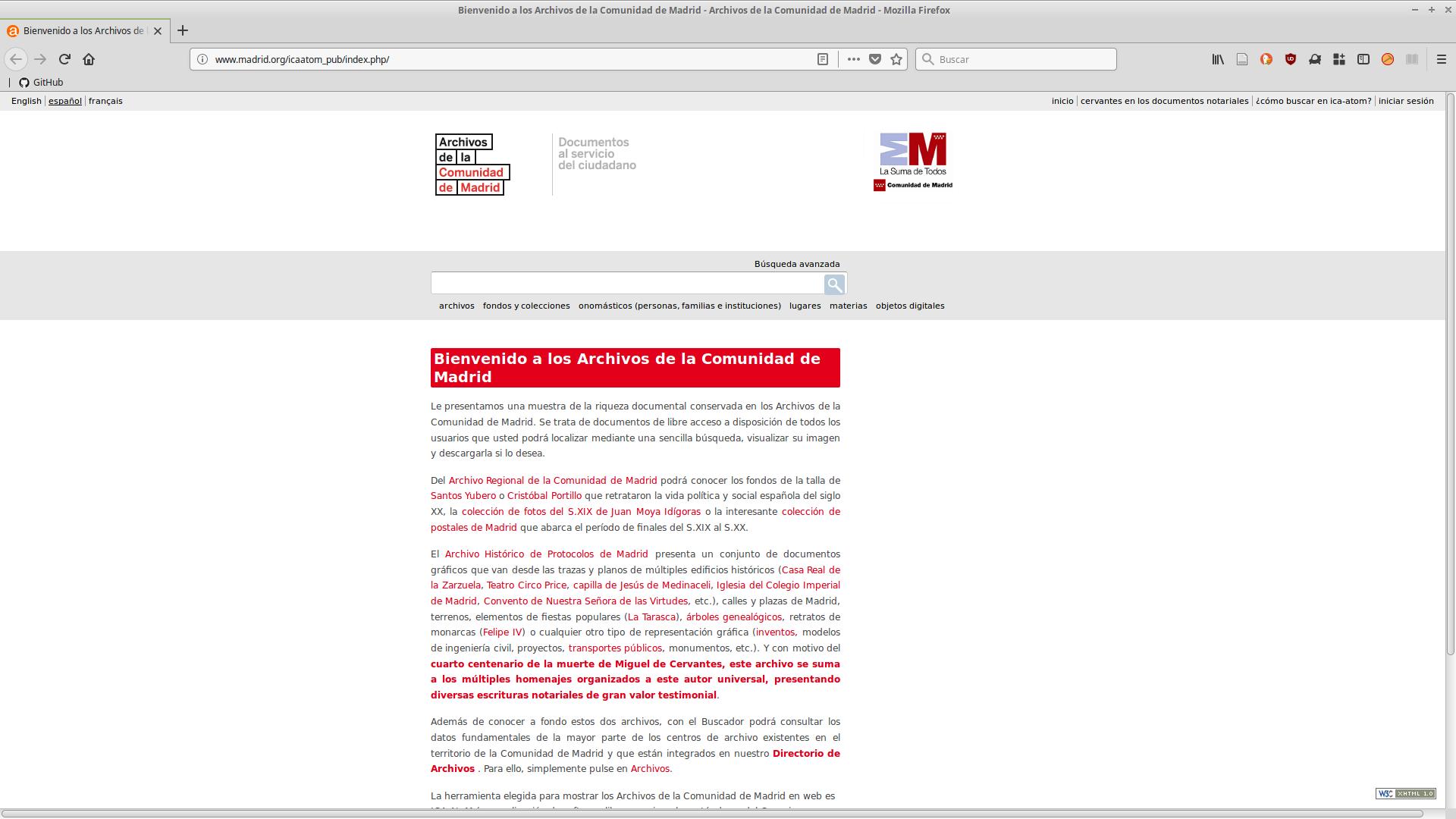 AtoM en los Archivos de la Comunidad de Madrid