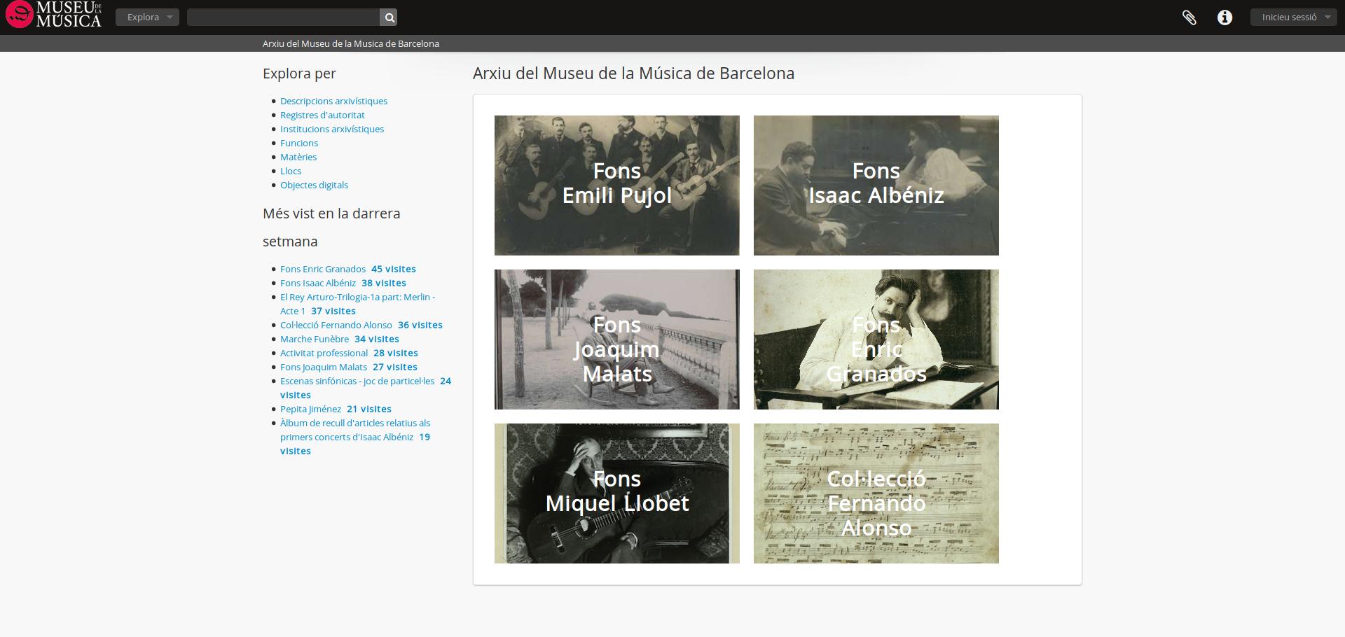 AtoM en el Archivo del Museo de la Música de Barcelona