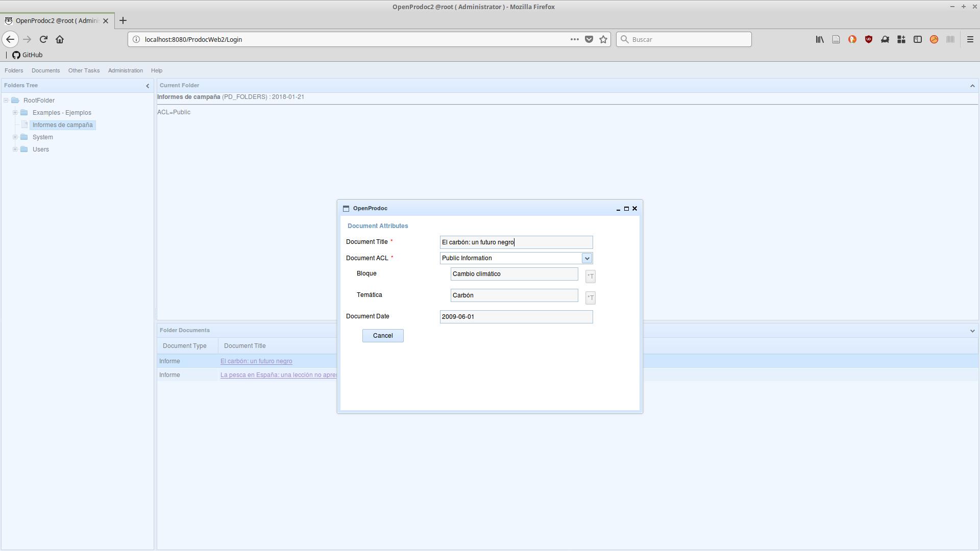 OpenProdoc 2.1 es compatible con tesauros multivaluados