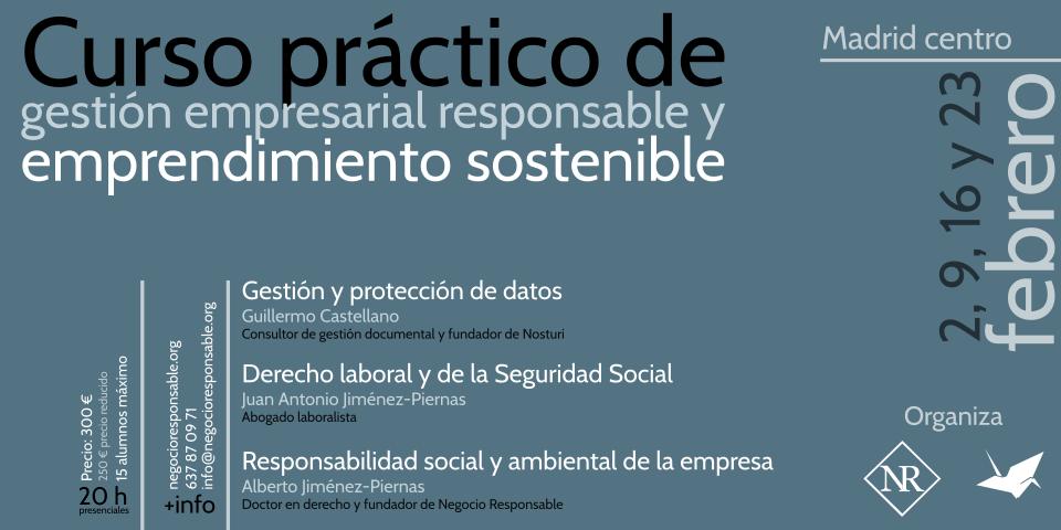Curso práctico de gestión empresarial responsable y emprendimiento sostenible